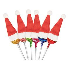 #Small mini lollipop arts & #craft cake / card decoration santa #claus hats, View more on the LINK: http://www.zeppy.io/product/gb/2/282259061904/