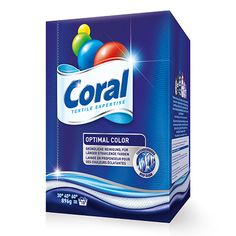 Coral Optimal Color Laundry Detergent Food Packaging Design, Packaging Design Inspiration, Washing Detergent, Visual Aids, Household Cleaners, Label Design, Facial Tissue, Soaps, Brand Names