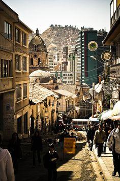 La Paz, Bolivia. Muy bonito. Tiene un aspecto rustic que me gusta.