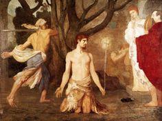 Puvis de Chavannes, Pedro-Cécile  La decapitación de San Juan Bautista  c. 1869  Óleo sobre lienzo, 240 x 316 cm  Galería Nacional, Londres