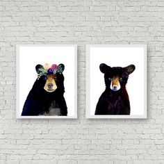 Bear family  This is a print of my original watercolor painting. The colors are rich and vibrant and the print looks so much better in real life. They