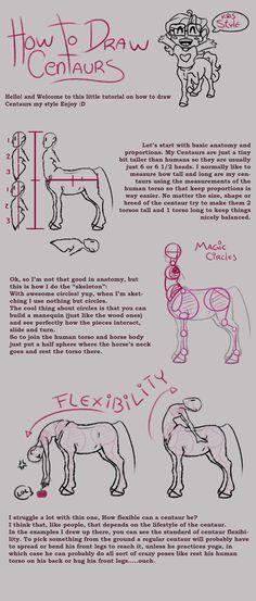 Centaur tutorial part 1 by GreecemisisBiscuit on DeviantArt