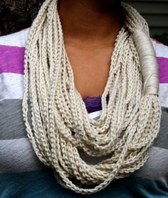 Crochet Rope Infinity Scarf -- no pattern available, but you can just reproduce from this photo!