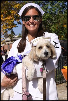 Pin for Later: 9 Unique Halloween Costume Ideas For You and Your Dog Sailors Dress up like you're ready to sail the seas in sailor uniforms. You'll be ready to jump ship for every party.