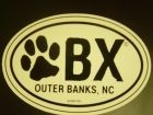OBX Dog Paw Sticker - Birthday Suits & OBX Gear