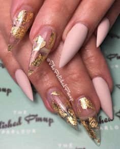 All clear with gold or just glitter scattered