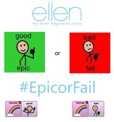 Epic or fail.   Core vocabulary ideas