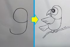 Learn How to turn Numbers 6 – 9 into the cartoon birds step by step Very Easy! with this how-to video and step-by-step drawing instructions. Please take a look at the detailed video tutorial below Cartoon Drawing For Kids, Easy Drawings For Kids, Cartoon Drawings, Bird Drawings, Animal Drawings, Very Easy Drawing, Number Drawing, Cartoon Birds, Numbers For Kids