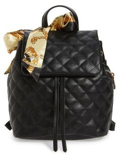1922399822fe BP Quilted Faux Leather Backpack - Black Faux Leather Backpack