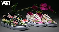 Egy virágos Vans? http://www.officeshoes.hu/cipok-noi-vans/279/24/order_asc #vans #vanoffthewall #shoes #snekaers #officeshoes #pink #flower #hawaii