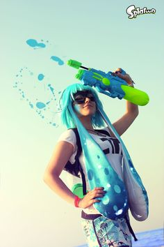 Inkiling girl Cosplay - Splatoon by CKibe.deviantart.com on @DeviantArt