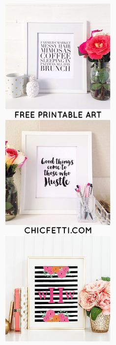 Free Printable Art from @chicfetti