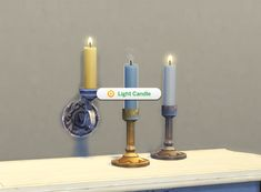 Mod The Sims - Single Candle + Candle Holders