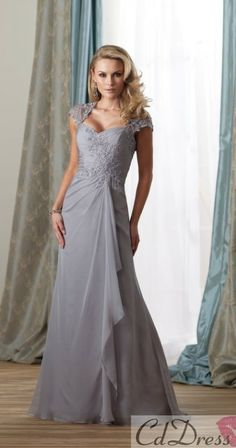 Mother of Bride Dress ideas.  I really like the look of this dress but prefer tea length.