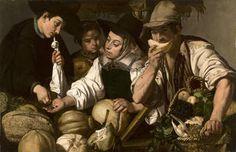 """""""Vendedores de frutas"""", Jerónimo Jacinto Espinosa, ca. 1650"""