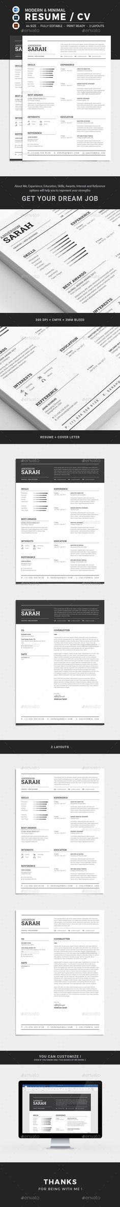 Resume  Simple Resume Resume Cv And Minimal