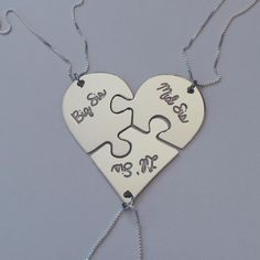 Trio of Broken Puzzle Hearts  This is a MUST for my two lovely sisters ♥