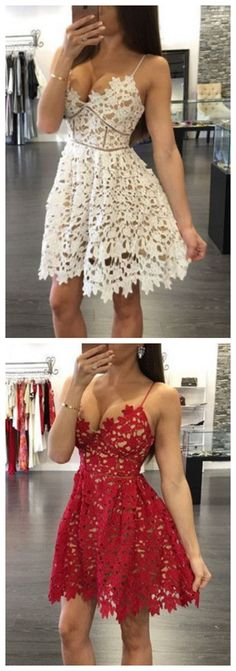 This dress could be custom made, there are no extra cost to do custom size and color, Lace Unique Homecoming Dress Graduation Dress Prom Dress for Unique Homecoming Dresses, Prom Dresses For Teens, V Neck Prom Dresses, Dresses Short, Cheap Prom Dresses, Unique Dresses, Tight Dresses, Dress Prom, Graduation Dresses