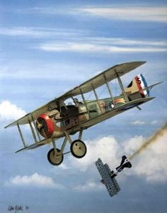 SPAD XIII - Jacques Michael Swaab - 23rd October 1918 - by Iain Wyllie