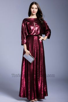 Girls New Elegant  Long Prom Dress Sequins Party Cocktail Evening Dress  1