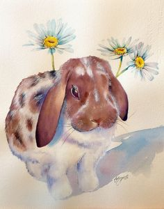 Cady Driver's watercolor animals - Watercolours by Cady Driver