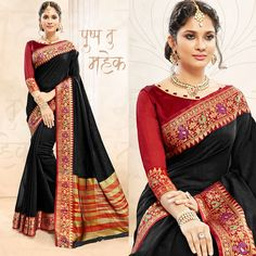 eab4eec50d Shop Beautiful Black colored khadi silk saree from Indias best online  shopping site offering latest collection at cheap prices with cash on  delivery.