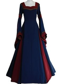 """I wish women still wore dresses like this. I would totally wear """"midevil"""" dresses all the time. So beautiful."""