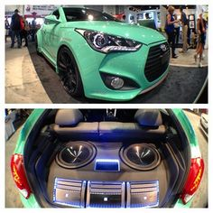 JP Edition Hyundai Veloster Turbo at the SEMA show. #cars #iphoneography