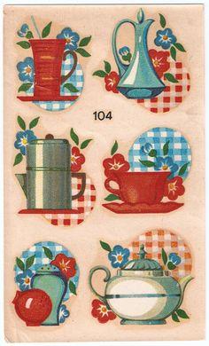 Set of 1950s Kitchen Decals