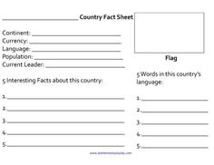 Geography Notebook Page For Younger Learners  Free Download From