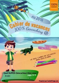PDF Gratuits: 2 cahiers de vacances 100% géocaching (PDF)
