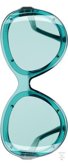 Aqua green Chanel glasses #Luxurydotcom