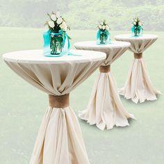 Cocktail table linen idea