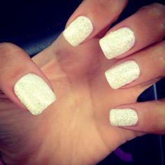 "FAB "" White Diamonds"" Gel Nails -LOVE!"