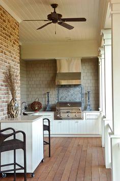 Outdoor grill- Ralston Creek Residence :: Herlong & Associates :: Coastal Architects, Charleston, South Carolina