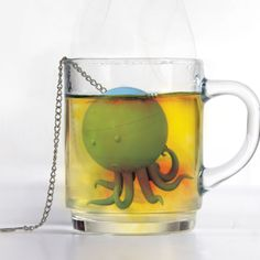 1000 images about tea strainers tea infusers on pinterest tea strainer teas and sterling - Octopus tea infuser ...
