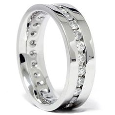Mens 1.25CT Diamond Eterntiy 14K White Gold Band From Pompeii3 Inc. List Price:	$1,805.52 Price:
