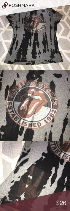 Rolling Stones vintage shirt Super rare vintage shirt, great condition! Women's XL but fit like a loose M and regular L/XL !  The black parts of the shirt are slightly sheer! Comment! Make an offer! Start a bundle! Check out my closet! the rolling stones Tops Tees - Short Sleeve
