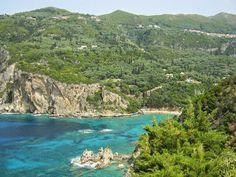 Baai bij Paleokastritsa, Corfu