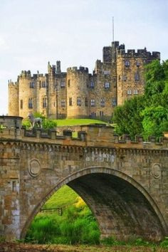 Medieval Alnwick Castle ~ Northumberland,  England, built in 1096
