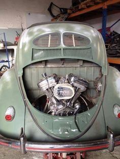what would you think if you heard a harley rumble by only you see a bug?