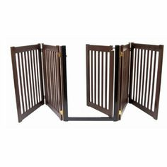 Amazon.com: The Highlander Series 5-Panel Walk Through Pet Gate - Mahogany: Pet Supplies