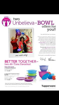 A little under 2 hours left to get these great offers... www.my2.tupperware.com / speterson9398