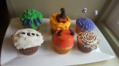 Spooky cuppy cakes