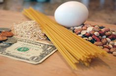 Focus on saving money on food.   Check this site for the least expensive recipes I have.  Nearly all of my recipes are budget friendly, but these really counteract those rising prices.  You may notice a lot of rice, beans, pasta and eggs in this list.  Basing meals on these ingredients is a great way to keep the cost low.