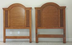 Tommy-Bahama-Style-Wood-Cottage-Rattan-Twin-Headboard-Pair by DEGFURNITUREDESIGNS on Etsy