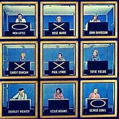 "Hollywood Squares is an American panel game show in which two contestants play tic-tac-toe to win cash and prizes. The ""board"" for the game is a 3 × 3 vertical stack of open-faced cubes, each occupied by a celebrity (or ""star"") seated at a desk and facing the contestants. The stars are asked questions and the contestants judge the veracity of their answers in order to win the game."
