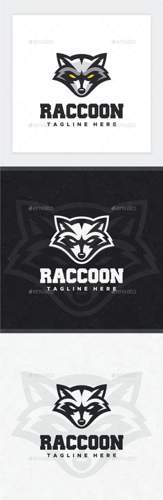 Raccoon Logo — Photoshop PSD #design #icon • Available here → https://graphicriver.net/item/raccoon-logo/17647175?ref=pxcr