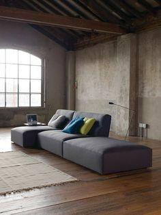 Joe by Verzelloni / Lievore Altherr Molina Sofa Furniture, Modern Furniture, Sofa Surfers, Types Of Coffee Tables, Modern Interior, Interior Design, Leather Sectional, Modular Sofa, Living Room Lighting