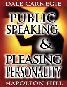 Public Speaking by Dale Carnegie  Public speaking, as Carnegie saw it, is a vital skill that can be attained through basic and repeated steps. This is an intensive and thoroughly tested course to help the business and professional man in his speaking, both public and in private. The course has aided thousands of business and professional men to become creditable speakers, many of whom were formerly unable to say half a dozen sentences effectively when facing an audience.